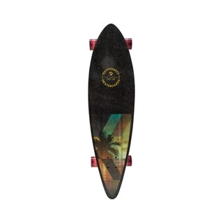 "Kryptonics Pintail Longboard Complete Skateboard (37"" x 9.5"") - Black"