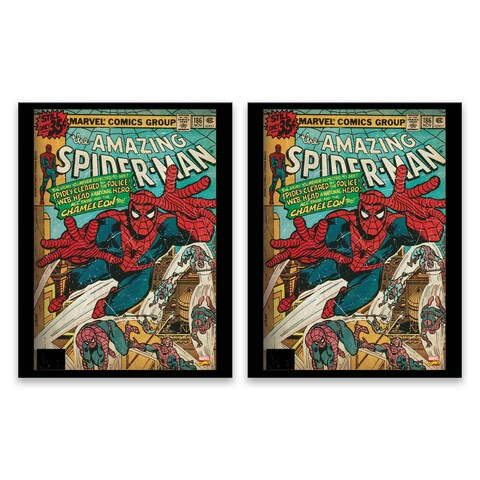 """Spider-Man Comic Cover"" Printed Canvas - Set of 2, 14W x 18H x 1.25D each"