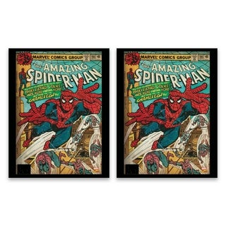 """""""Spider-Man Comic Cover"""" Printed Canvas - Set of 2, 14W x 18H x 1.25D each"""