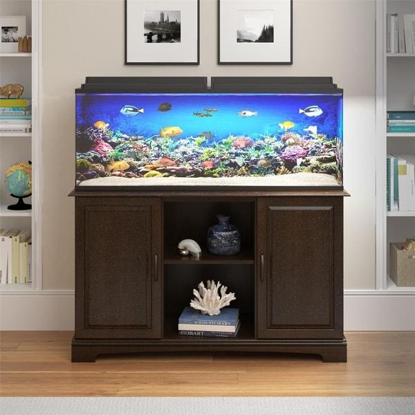 Shop Avenue Greene Beachwood 50 75 Gallon Aquarium Stand