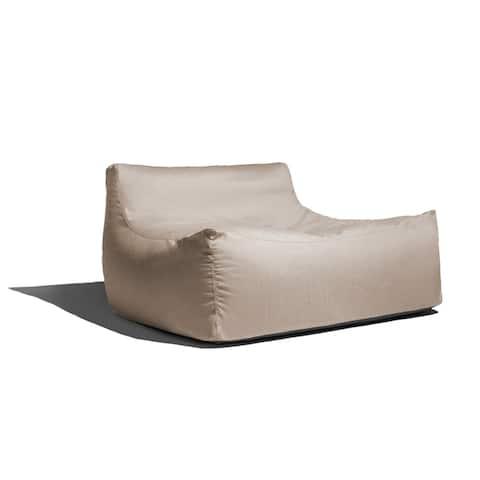 Jaxx Lavista Outdoor Bean Bag Loveseat / Modern Patio Sofa