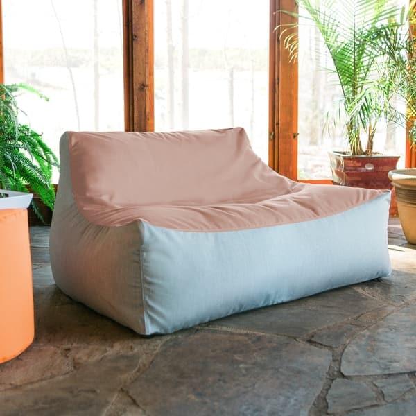 Shop Jaxx Lavista Outdoor Bean Bag Loveseat / Modern Patio ...