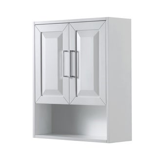 Daria Wall-Mounted Storage Cabinet in White