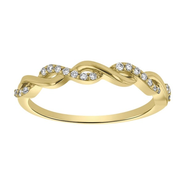 Shop 10K Yellow Gold 1/8 Ct TDW Diamond Infinity Wedding
