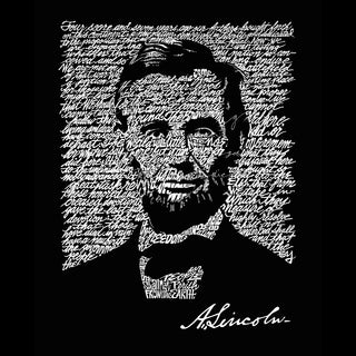 LA Pop Art Women's Premium Word Art Flowy Tank Top - ABRAHAM LINCOLN - GETTYSBURG ADDRESS (5 options available)