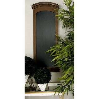 Gracewood Hollow Apess Brown Rectangular Chalkboard with Cut Edged Black Framing