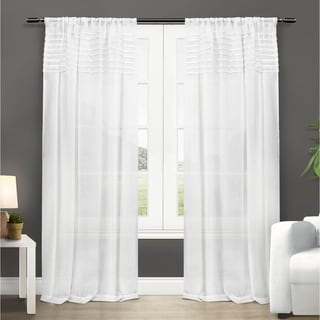 Copper Grove Narcissus Sheer Curtain Panel Pair