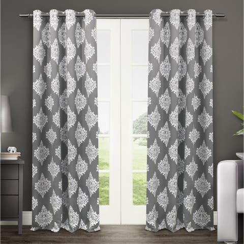 Gracewood Hollow Corine Medallion Pattern Blackout Curtain Panel Pair