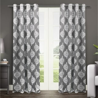 Link to Gracewood Hollow Corine Medallion Pattern Blackout Curtain Panel Pair Similar Items in Privacy Curtains