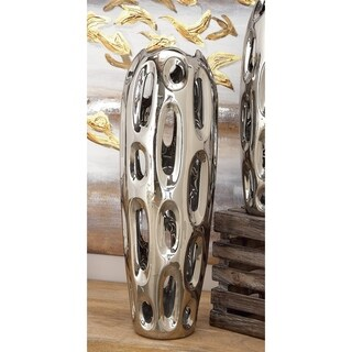 Strick & Bolton Buri Silver Ceramic Vase