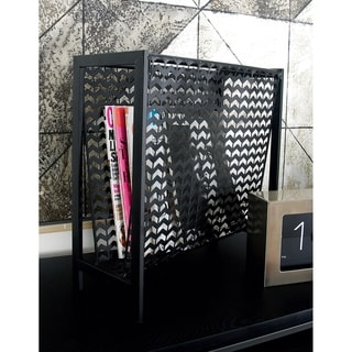Carbon Loft Mackintosh Black Iron Magazine Rack