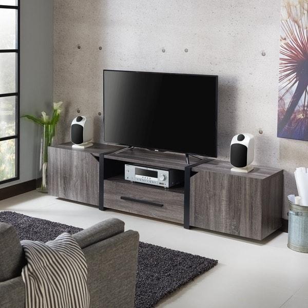 Strick & Bolton Sawa 81-inch 5-shelf Multi-functional Storage TV Console. Opens flyout.