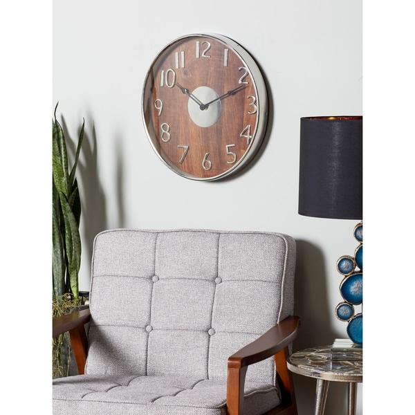 Porch & Den Bambi Round Wooden Wall Clock