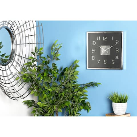 Carbon Loft Mackintosh Black Stainless Steel Wall Clock