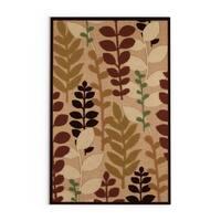 """Pine Canopy Sierra Olefin Floral Area Rug - 5' x 7'6"""""""