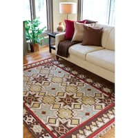 The Curated Nomad Valdivia Southwestern Aztec Area Rug - 5' x 8'