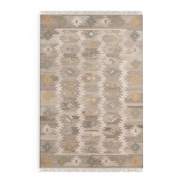 The Curated Nomad Joyce Southwestern Multicolored Area Rug - 5' x 8'