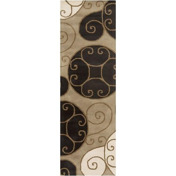 """Porch & Den Farrar Hand-tufted Wool Abstract Runner Rug - 2'6"""" x 8' Runner/Surplus"""