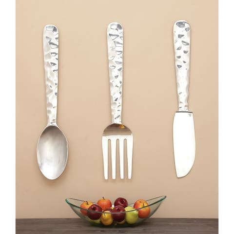 Copper Grove Seymour Aluminum Cutlery Wall Decor (Set of 3)