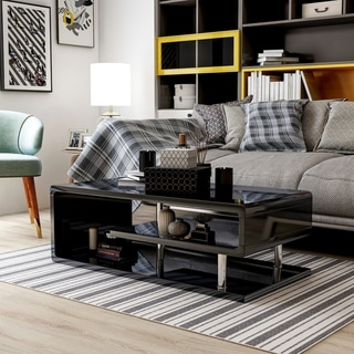 Link to Furniture of America Inomata Modern Geometric High Gloss Coffee Table Similar Items in Living Room Furniture