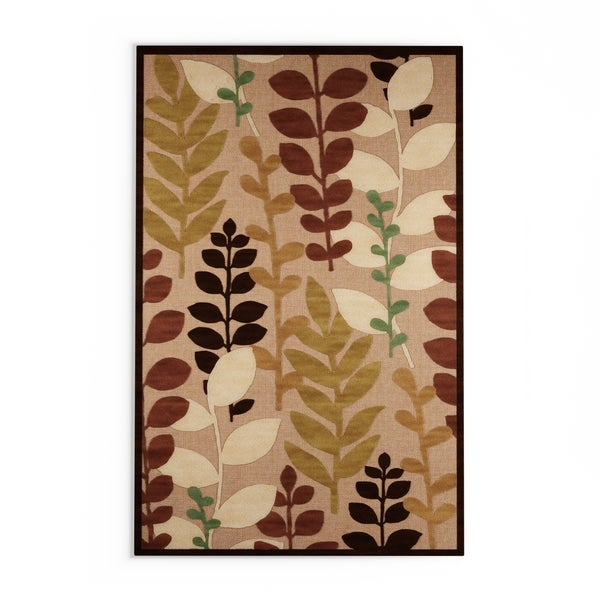 Ashlan Transitional Floral Indoor/ Outdoor Area Rug (8'8 x 12')