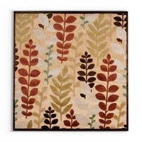 "Pine Canopy Sierra Woven Floral Area Rug - 7'6"" square"