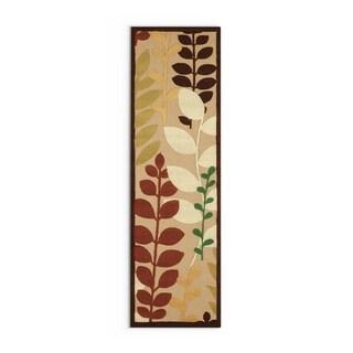 """Copper Grove Sierra Floral Indoor/ Outdoor Area Rug - 2'6"""" x 7'10"""" Runner/Surplus"""