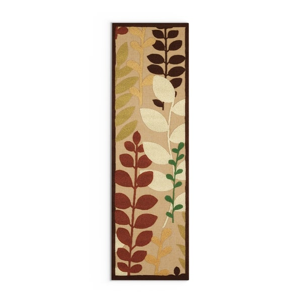 "Copper Grove Sierra Floral Indoor/ Outdoor Area Rug - 2'6"" x 7'10"" Runner/Surplus"