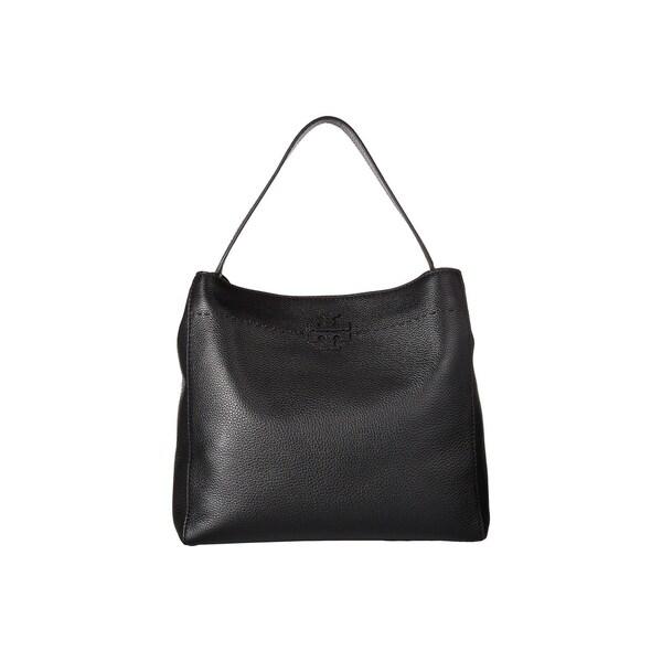 17b4804ee64 Shop Tory Burch McGraw Leather Black Hobo Bag - M - Free Shipping ...