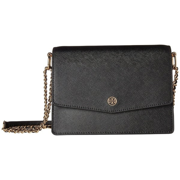 a3867197b44 Shop Tory Burch Robinson Convertible Leather Black Shoulder Bag - M ...