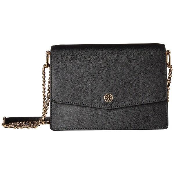 c5dec89f43534 Shop Tory Burch Robinson Convertible Leather Black Shoulder Bag - M ...