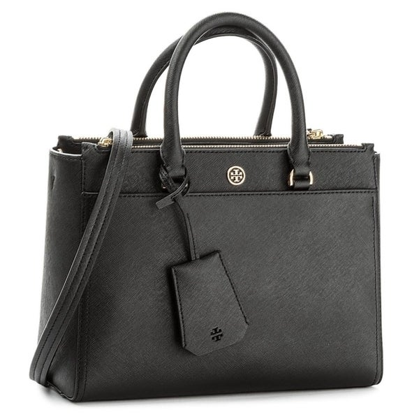63f50509292 Shop Tory Burch Small Robinson Leather Tote - On Sale - Free ...