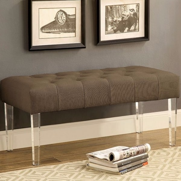 Modish Contemporary Style Bench, Brown