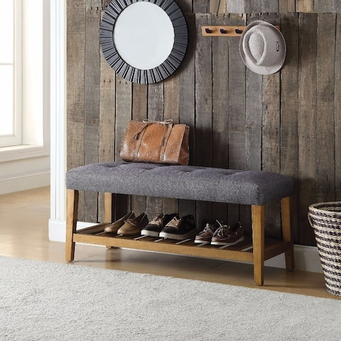 Wooden Bench, Gray & Oak