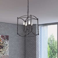 Beatriz Antique Black Classic Iron Lantern Chandelier