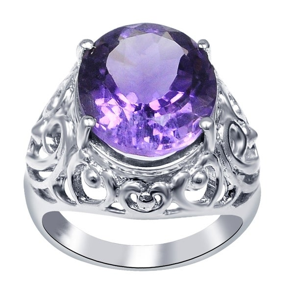 Shop Natural 2 2 Ctw Purple Amethyst 925 Sterling Silver