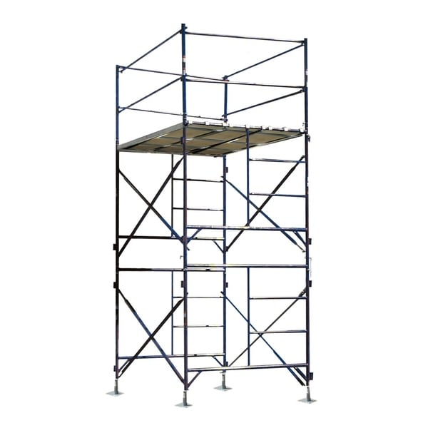 Offex 2 Story Metal Stationary Scaffold Tower with Blue Powder Coat Finish