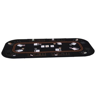 """4-Fold 63"""" Poker Blackjack Table Top with Chips Trays"""