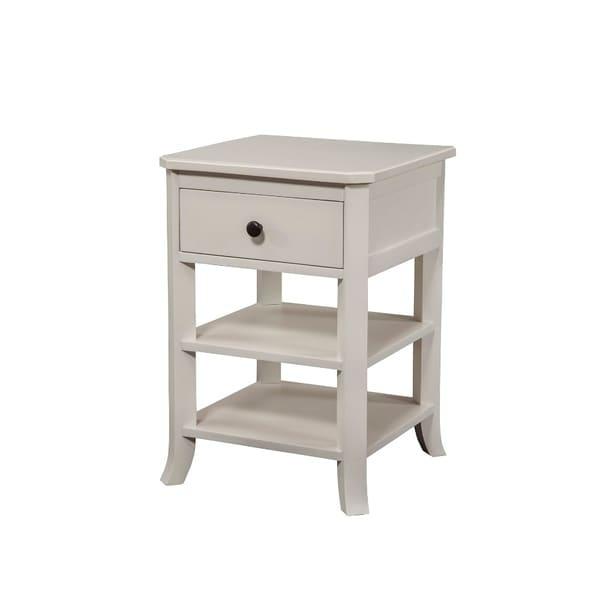 Simply Decorous Mahogany Wood Nightstand, White