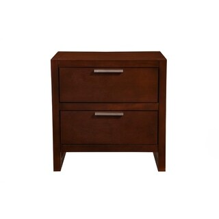 Antique 2 Drawer Nightstand In Mahogany Wood