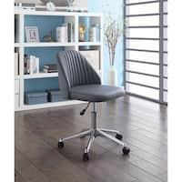 Mid-back Mid-Century office chair, Dark Gray