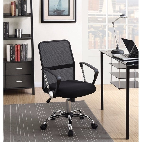 Ergonomic Fine Mesh Office Chair, Black