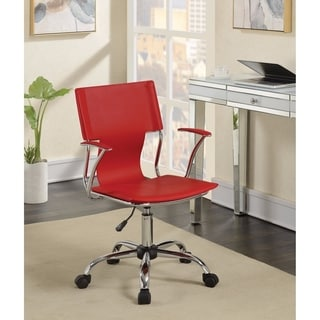 contemporary styled mid-back office chair, Red