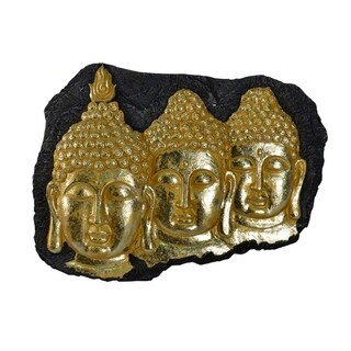 Magnificent Resin Buddha Wall Decor, Gold