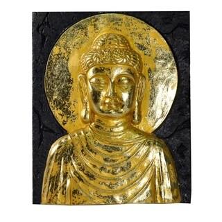 Beautiful Resin Buddha Wall Decor, Gold