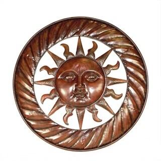 Sun Design Round Metal Wall D�cor, Copper