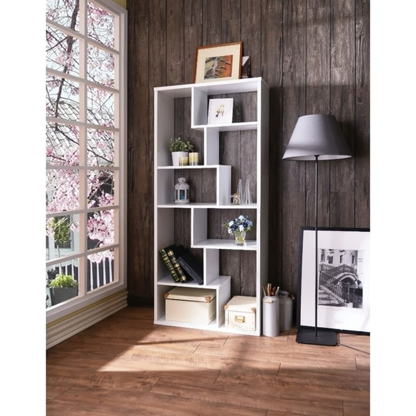 Shop Wooden Rectangular Cube Bookcase White Free Shipping Today Overstock 21440710