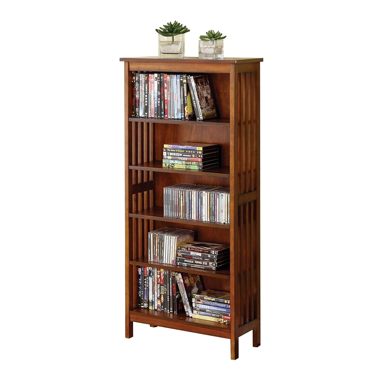 Valencia Mission Style Accent 5 Storage Media Shelf Bookcase
