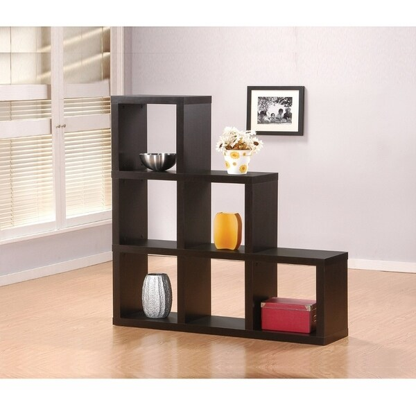 Shop Wooden Bookcase In Cube Pattern, Espresso Brown ...
