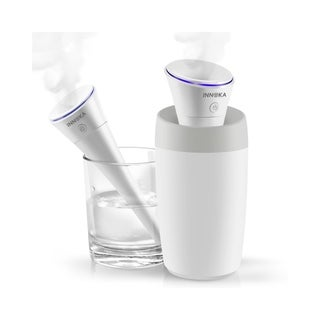 INNOKA White 280ml Ultrasonic Portable USB Travel Humidifier with USB Charging Cable - Auto Shut-Off, Whisper Quiet